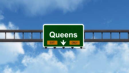 interstate: Queens USA Interstate Highway Sign