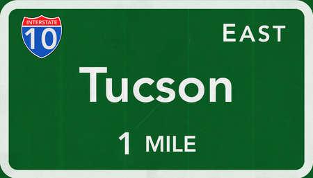 tucson: Tucson USA Interstate Highway Sign Stock Photo