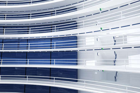 complex system: Ultra Modern Data Center Interior 3D Illustration Photorealistic HQ 3D render