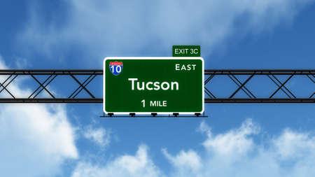 interstate: Tucson USA Interstate Highway Sign Stock Photo