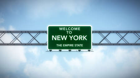 empire state: New York City USA Interstate Highway Sign
