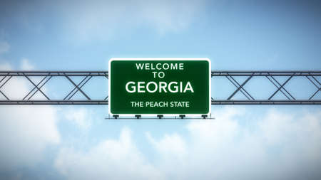 Georgia USA State Welcome to Highway Road Sign