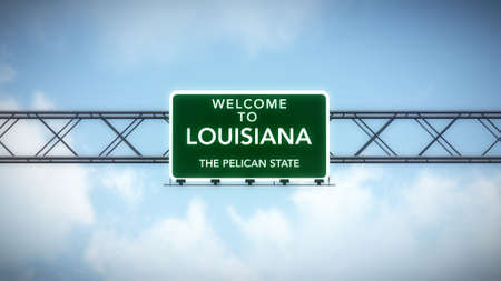 Louisiana USA State Welcome to Highway Road Sign photo