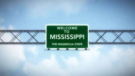 Mississippi USA State Welcome to Highway Road Sign photo