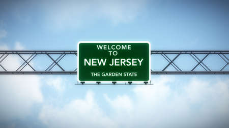 New Jersey USA State Welcome to Highway Road Sign