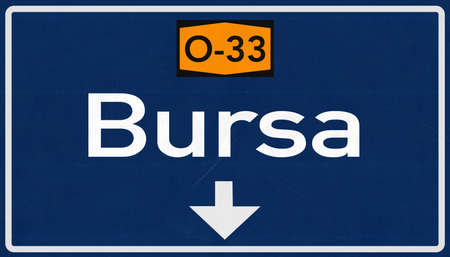 bursa: Bursa Turkey Highway Road Sign