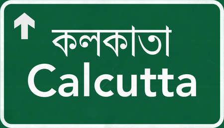 calcutta: Calcutta India Highway Road Sign