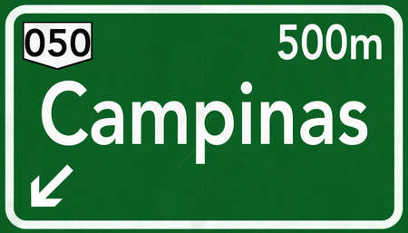 Campinas Highway Road Sign