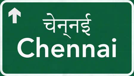 Chennai India Highway Road Sign
