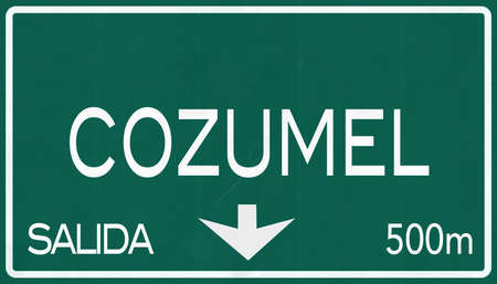 cozumel: Cozumel Mexico Highway Road Sign