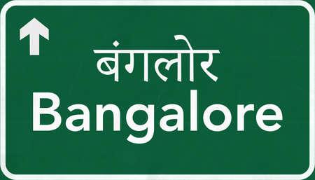 Bangalore India Highway Road Sign