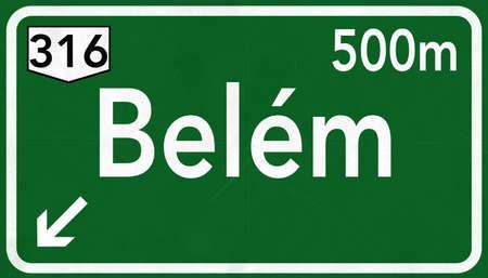 belem: Belem Brazil Highway Road Sign