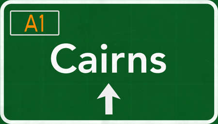 cairns: Cairns Australia Highway Road Sign