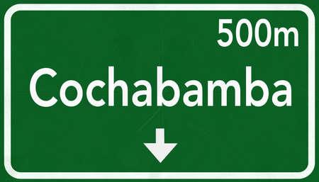 cochabamba: Cochabamba Bolivia Highway Road Sign
