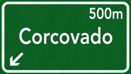 corcovado: Corcovado Rio De Janerio Brazil Highway Road Sign