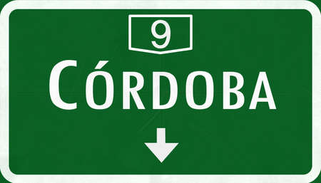 cordoba: Cordoba Argentina Highway Road Sign