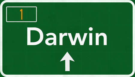 darwin: Darwin Australia Highway Road Sign Stock Photo