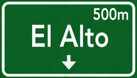 alto: El Alto Bolivia Highway Road Sign