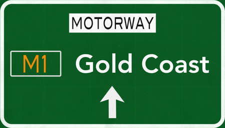gold road: Gold Coast Australia Highway Road Sign
