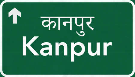 Kanpur India Highway Road Sign