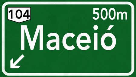 Maceio Brazil Highway Road Sign