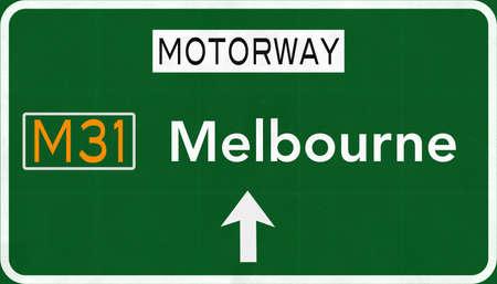 melbourne: Melbourne Australia Highway Road Sign