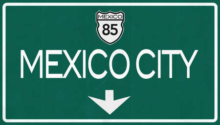 mexico city: Mexico City Highway Road Sign