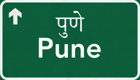 Pune India Highway Road Sign