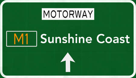 sunshine: Sunshine Coast Australia Highway Road Sign