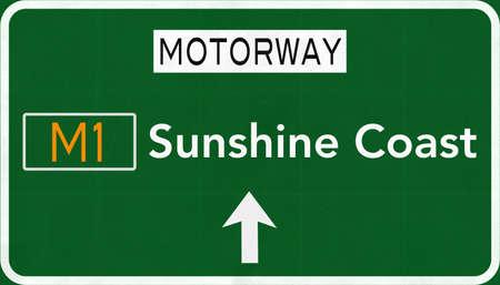 Sunshine Coast Australia Highway Road Sign