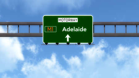 Adelaide Australia Highway Road Sign