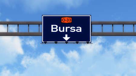 Bursa Turkey Highway Road Sign