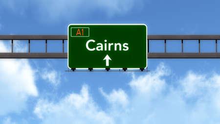 cairns: Cairns Australia Highway Road Sign