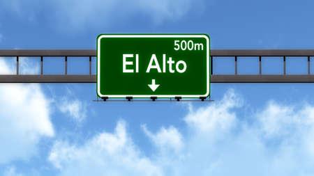 bolivia: El Alto Bolivia Highway Road Sign