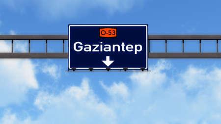 Gaziantep Turkey Highway Road Sign