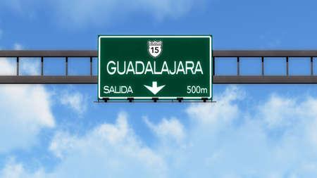 guadalajara: Guadalajara Highway Road Sign