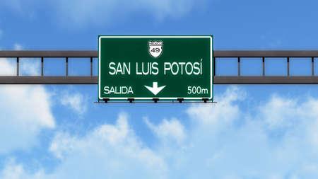 luis: San Luis Potosi Highway Road Sign