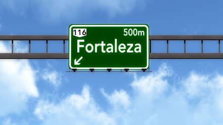 Fortaleza Brazil Highway Road Sign