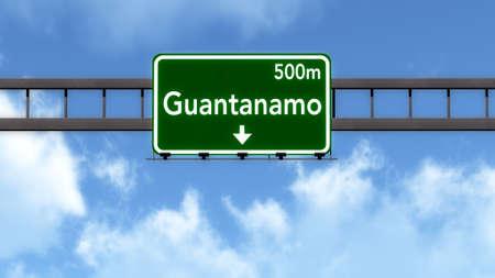 Guantanamo Highway Road Sign