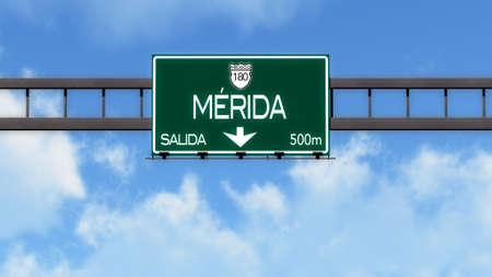 merida: Merida Highway Road Sign