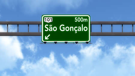 Sao Goncalo Brazil Highway Road Sign