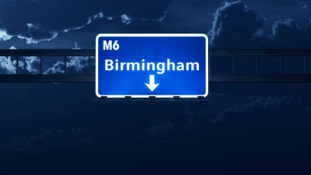 birmingham: Birmingham England United Kingdom Highway Road Sign Stock Photo