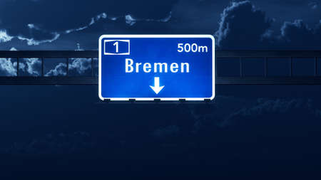 bremen: Bremen Germany Highway Road Sign