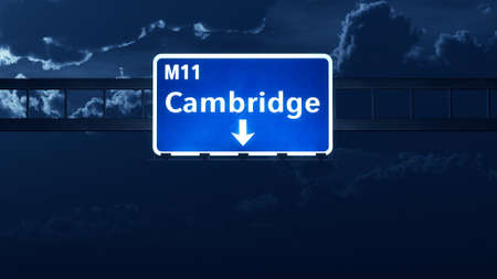 united kingdom: Cambridge England United Kingdom Highway Road Sign