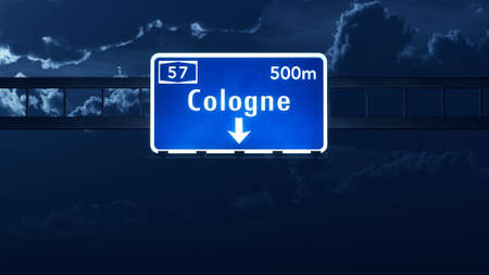 cologne: Cologne Germany Highway Road Sign