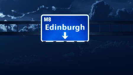 edinburgh: Edinburgh Scotland United Kingdom Highway Road Sign