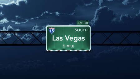 interstate: Las Vegas USA Interstate Highway Road Sign Stock Photo