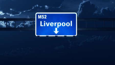 liverpool: Liverpool England United Kingdom Highway Road Sign