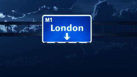 london england: London England United Kingdom Highway Road Sign