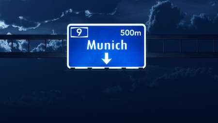 gloom: Munich Germany Highway Road Sign